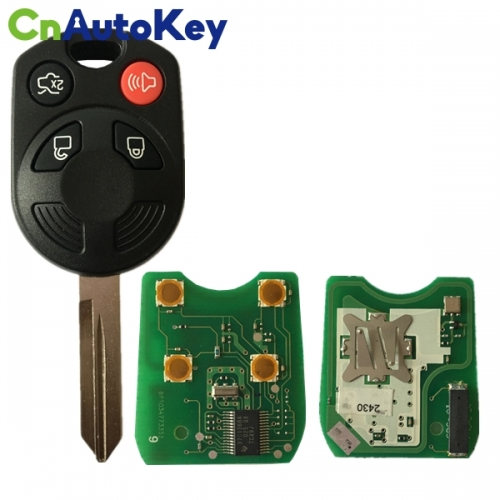 CN018092 For Ford Mercury Lincoln (3 + 1) buttons - 315 MHz 4D63 80BIT Part 8G1T-19H316-A, 164-R7013 Fcc# CWTWB1U722