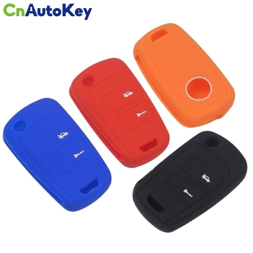 SCC013007 Flip Folding Remote Key Case Silicone Cover For Chevrolet Epica Sail Buick Excelle 2 Button Fob Protector Holder