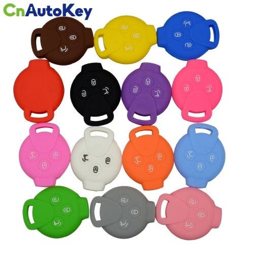 SCC002003 Silicone Car Key Case Cover For Benz Smart City Coupe Cabrio 3 Buttons Soft Silica Gel New Skin Cases Cover Protector