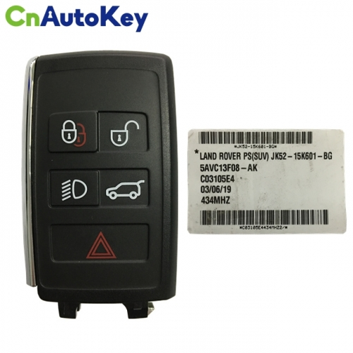 CN004030 New Smart Remote Key Fob 434MHz 5 Button for LAND ROVER JK52-15K601-BG 5AVC13F08-AK