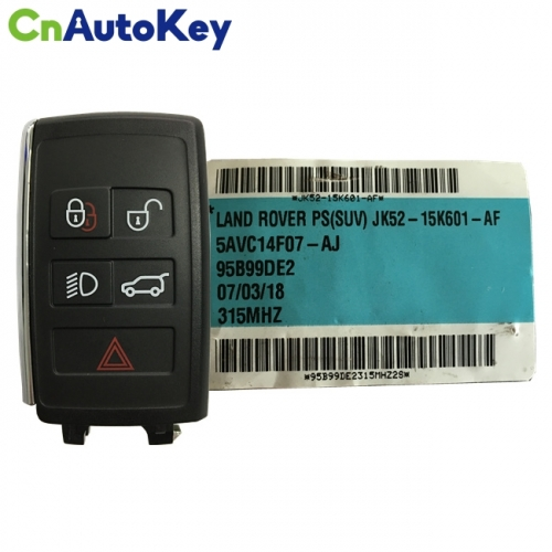 CN004031 New Smart Remote Key Fob 315MHz 5 Button for LAND ROVER PEPS(SUV) JK52-15K601-AF