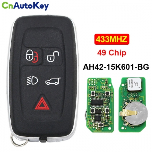 CN004014 5 Button Full Smart Card Remote Car Key Fob 434Mhz 49 Chip for Land Rover for Range Rover Sport Evoque AH42-15K601-BG