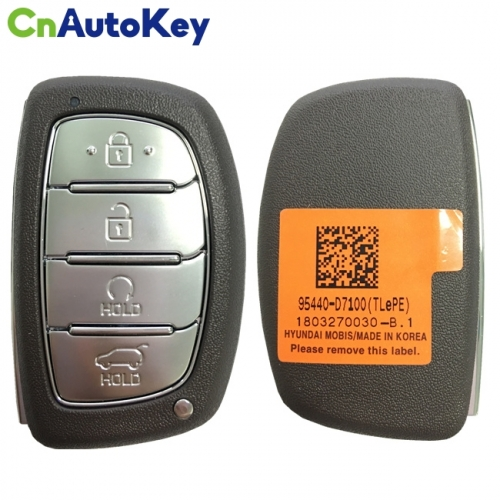 CN020134 For Hyundai Tucson 2019 Genuine Smart Remote Key 4 Buttons 433MHz 95440-D7100