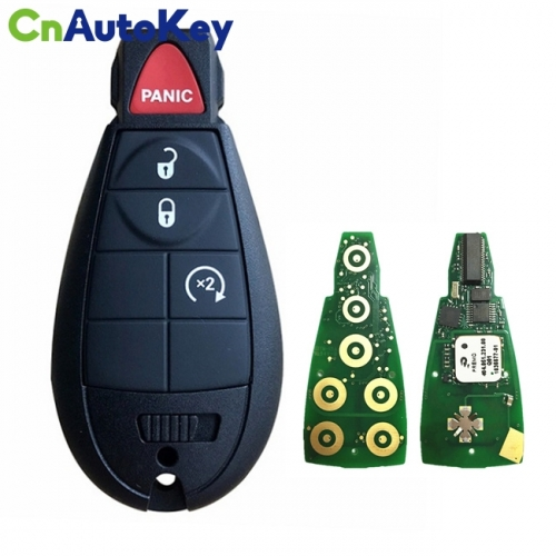 CN015092 Aftermarket 2009-2020 Jeep Chrysler Dodge  4-Button Keyless Go Fobik  PN 56046736AA  IYZ-C01C