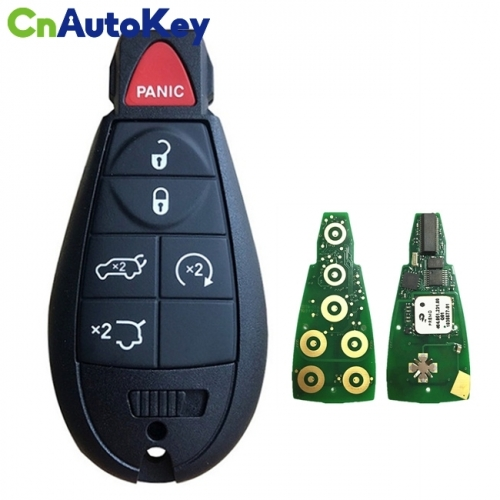 CN015098 Aftermarket 2009-2013 Jeep Grand Cherokee  6-Button Keyless Go Fobik  PN 68051666AI  IYZ-C01C