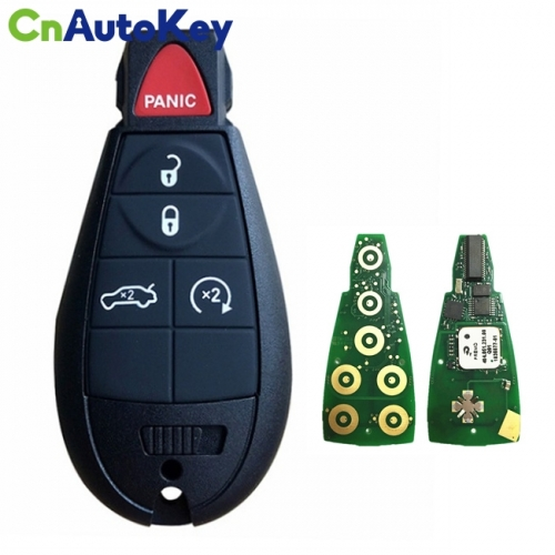 CN015097 Aftermarket 2008-2014 Dodge Chrysler 300  5-Button Keyless Go Fobik  PN 05026334AC  M3N5WY783X
