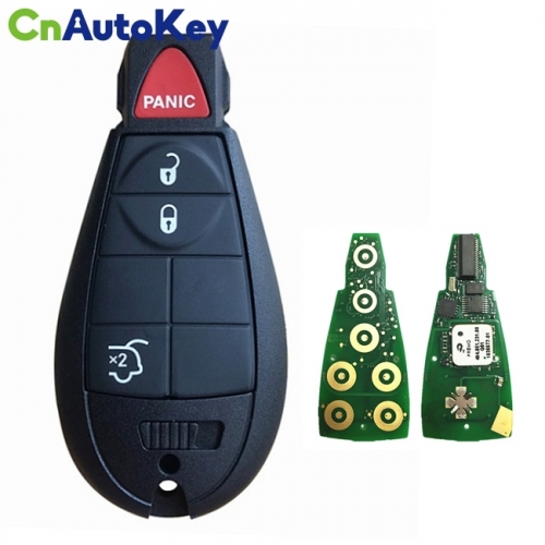 CN015094 Aftermarket 2009-2013 Jeep Grand Cherokee  4-Button Keyless Go Fobik  PN 68051664AH  IYZ-C01C
