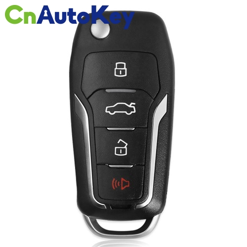 XKFO01EN Wire Remote Key Ford Condor Flip 4 buttons Unmovable Key King English 10pcs/lot