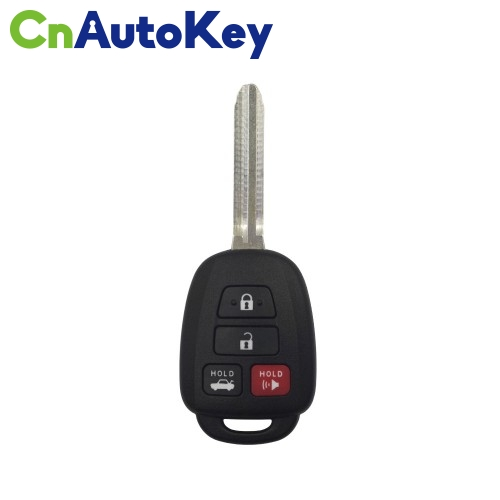 XKTO06EN Wire Remote Key Toyota Flat 4 Buttons Square English 10pcs/lot