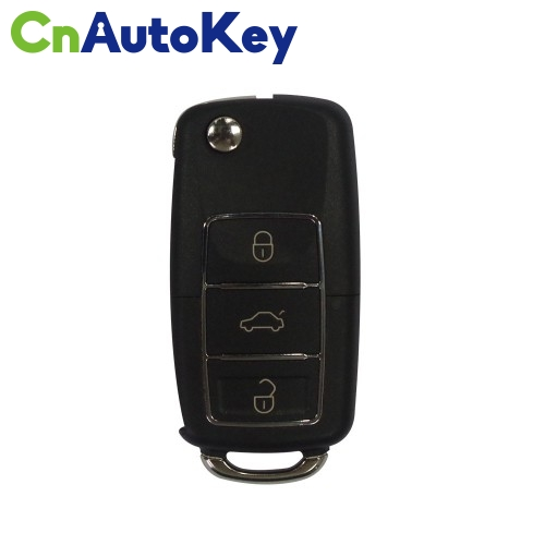 XKB506EN Wire Remote Key VW B5 Flip 3 Buttons Extreme Black English 10pcs/lot