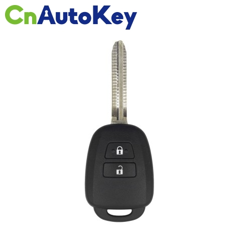 XKTO07EN Wire Remote Key Toyota Flat 2 Buttons Square English 10pcs/lot