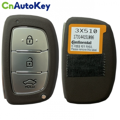 CN020001 For Hyundai Elantra 2014+ Smart Key, 3Buttons, DVI-MDFGE03 PCF7952A, 433MHz 95440-3X510 Keyless Go