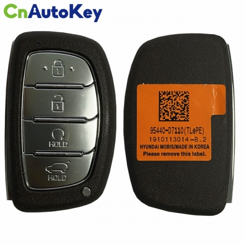 CN020144 Hyundai Tucson 2019-2020 Genuine Smart Remote Key 4 Buttons Auto Start Type 433MHz Genuine Transponder HITAG3 95440-D7110