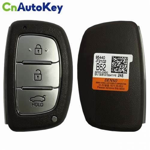 CN020151 Hyundai Elantra 2019 Genuine Smart Remote Key 3 Buttons 433MHz DST128 Transponder 95440-F2102