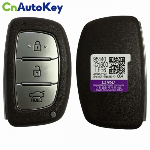 CN020150 For Hyundai Sonata 2018+ Smart Key, 3Buttons, CCAL14LP0120T2 DST-AES, 433MHz Brown 95440-C1600NNA Keyless Go