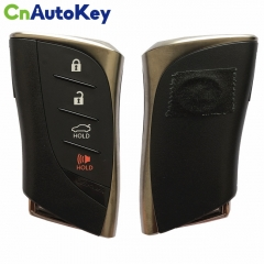 CN052042 Smart Key for Lexus LS 500 2018+/ Buttons:3+1 / Frequency:434MHz / Transponder:Texas Crypto/ 128-bit/ AES / First Page: AA / Blade signature: