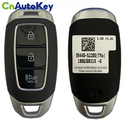 CN020163 Genuine Hyundai Santa Fe 2020 Smart Key Remote 3 Buttons 433 MHz HITAG 3 95440-S2200
