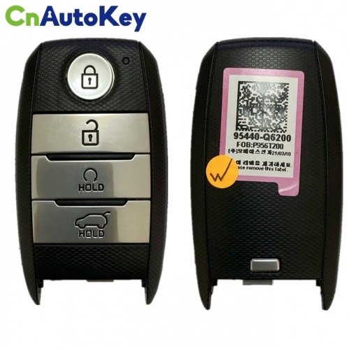 CN051130 Genuine KIA Seltos 2020 Smart Remote Key 4 buttons 433MHz FCC ID SYE3FOB1908 95440-Q6200