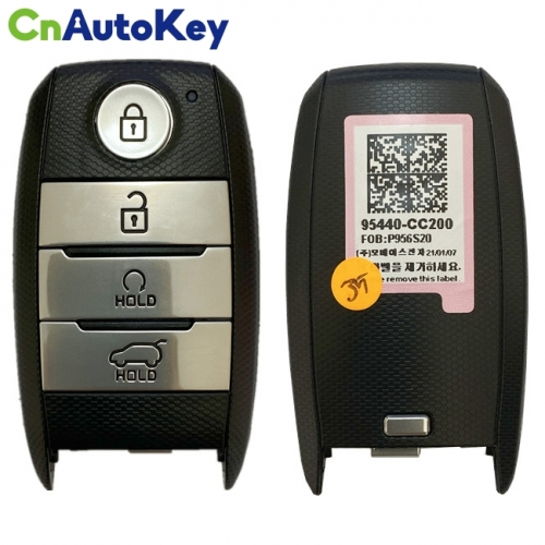 CN051129 Genuine KIA Sonet 2021 Smart Remote Key 4 Buttons 433 MHZ FCC ID FOBP956S20 95440-CC200