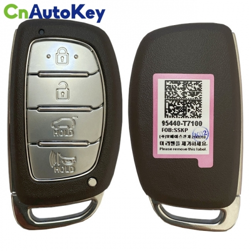 CN020169 Hyundai  2021 Smart Key Remote 4 Buttons 433 MHz 95440-T7100